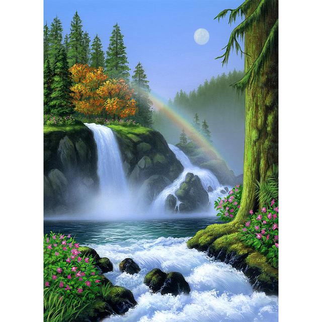 Waterfall with Rainbow