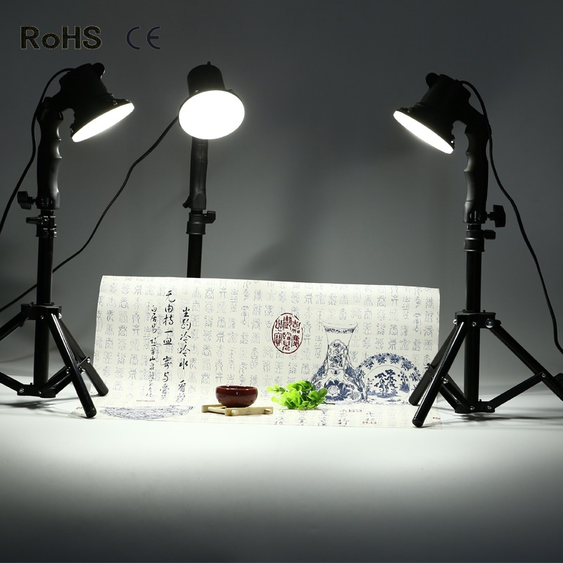 3 piece LED lamp photography studio light bulb portrait soft box fill light lights bulb and