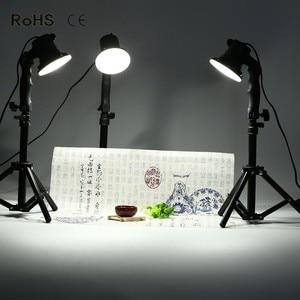 Image 1 - 3 قطعة LED مصباح التصوير إضاءة الاستوديو لمبة صورة لينة صندوق ملء ضوء أضواء لمبة و 3*37 سنتيمتر حامل ضوء