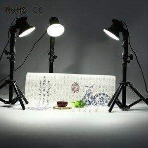 Image 1 - 3 ピースledランプ写真スタジオの電球肖像ソフトボックス補助光ライト電球と 3*37 センチメートルライトスタンド
