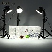 3 pièces lampe à LED photographie studio ampoule portrait boîte souple remplir lumière lumières ampoule et 3*37CM support de lumière