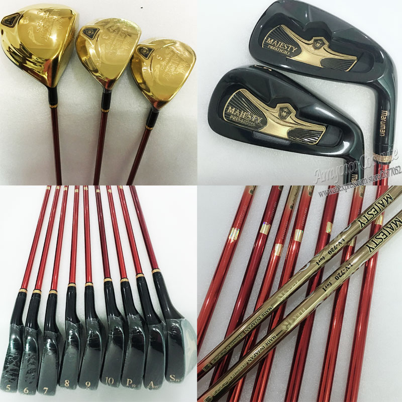 New Golf Clubs Maruman Majesty Prestigio 9 complete clubs set Golf Driver wood irons Putter Graphite Golf shaft Free shipping new golf clubs sword complete clubs set driver 3 5 fairway wood irons hybrid wood graphite golf shaft headcover free shipping