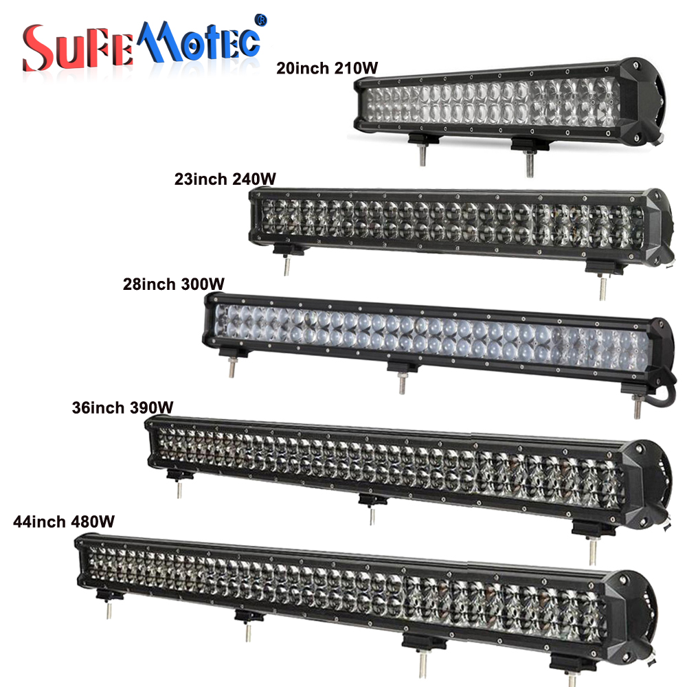 SufeMotec 4D 20 23 28 36 Inch 210W 240W 300W 390W 480W LED Light Light Bar for Offroad Trucks 4WD Boat SUV ATV Boat Driving Lamps