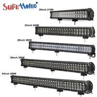 Venta SufeMotec 4D 20 23 28 36 pulgadas 210W 240W 300W 390W 480W Barra de luz LED de obra para camiones todo terreno 4WD barco SUV ATV barco lámparas de conducción
