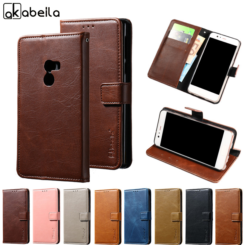 AKABEILA Phone Cover Case For Xiaomi Mi Mix Xiaomi Mix Mi X 6.4 inch Stand Flip Wallet PU Leather Cases Card Hold Shell