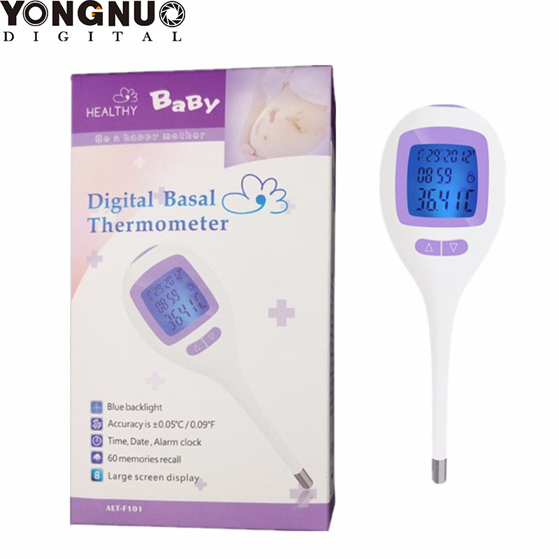 Home High Accuracy Digital Basal Body Temperature BBT OVULATION <font><b>Thermometer</b></font> LCD + Fertility Chart Read in Fahrenheit / Celsius