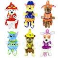 """6 Estilo Nuevo """"pata"""" mascotas Perro Juguetes de Peluche de Felpa Suave Animales Bolsa de Viaje Para Niños Pat Patrouille Morral de la Felpa del Bebé de Juguete Regalos 2017"""