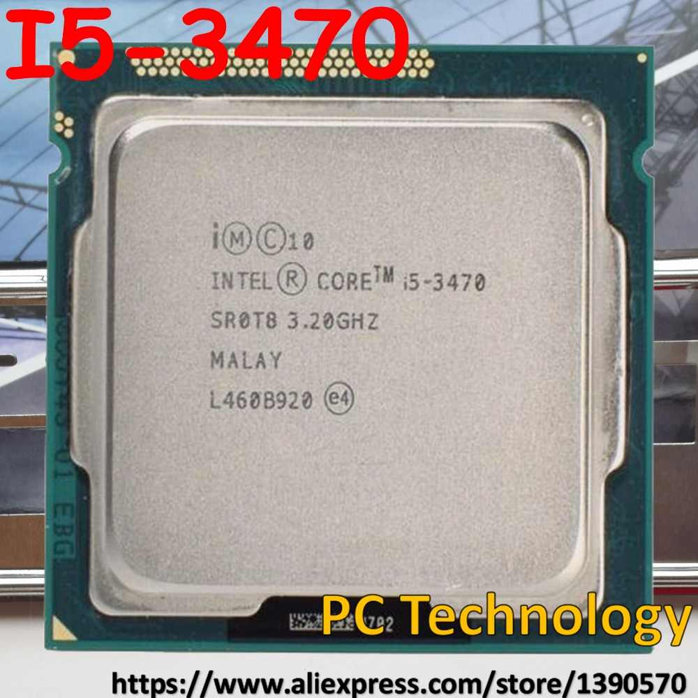 Original Intel Core  I5-3470 3.2GHz CPU 6M LGA1155 77W I5 3470 desktop Quad-Core Free shipping ship out within 1 day