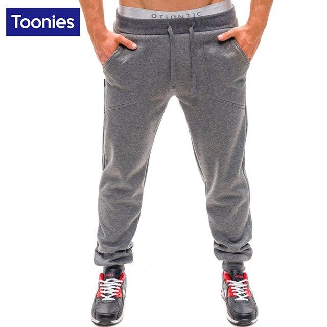 Cotton Long Trousers Drawstring Design Dmen's Leisure Pants Solid Color Spring Summer Men Loose Activity Sweatpants Baggy Jogger