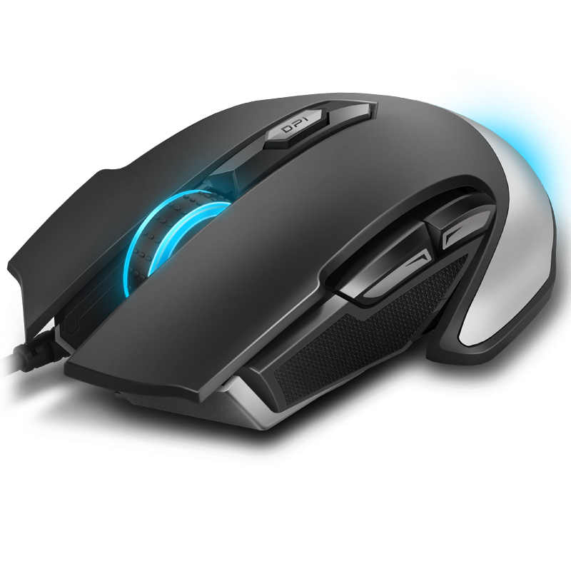 Original Rapoo V310 Wired Gaming Mouse USB LED Lights Mus Gamer 8200 DPI med 6 knapp for PC bærbar stasjonær datamaskin