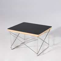 TL006 Plywood Panel Wire Base Coffee Table LTR Wire Base Table Small Coffee Table Free Shipping