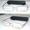 Оптическая на заказ оптические линзы титановых сплавов полный half-диска золотой оправе деловых людей очки для чтения 1 + 1.5 + 2 + 2.5 + 3 + 3.5 до + 6