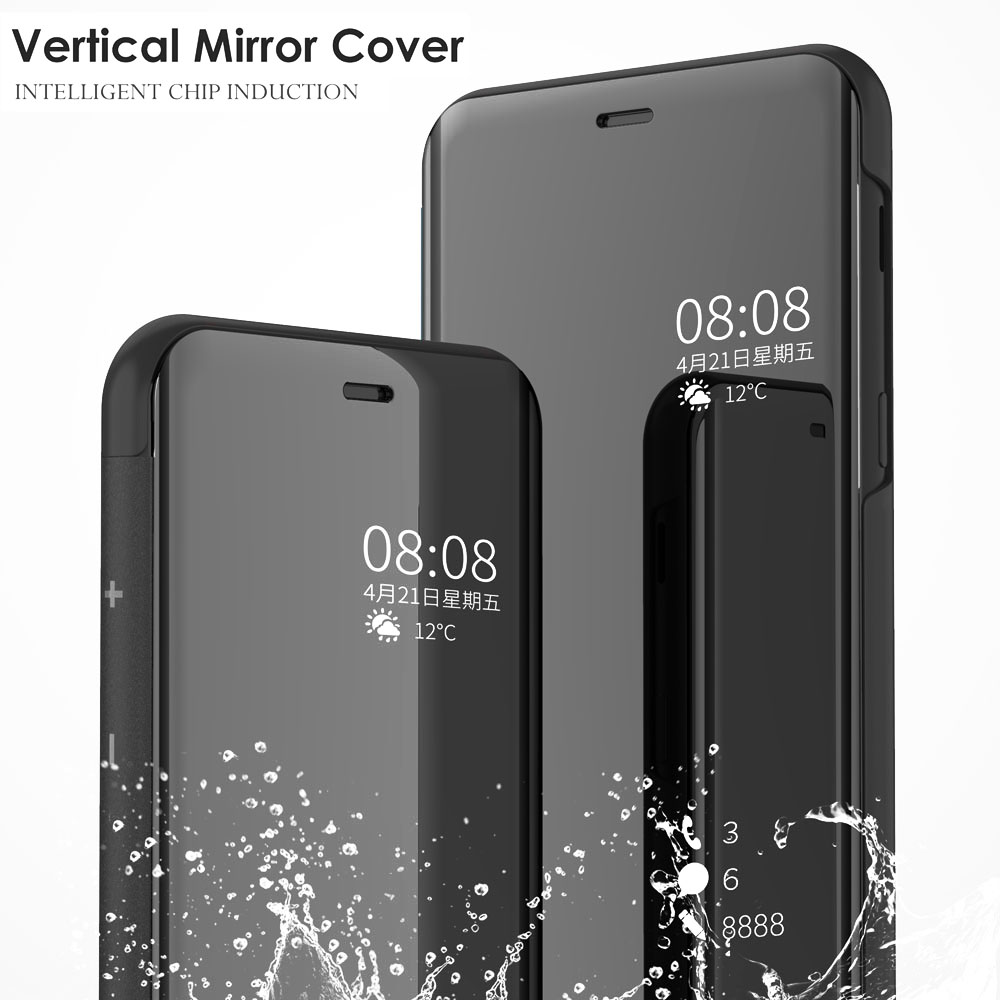first rate 81532 742b3 US $4.18 14% OFF|Smart Mirror Flip Cover 6.28For OnePlus 6 Case For One  Plus 6 Cell Phone Back Cover Case-in Flip Cases from Cellphones & ...