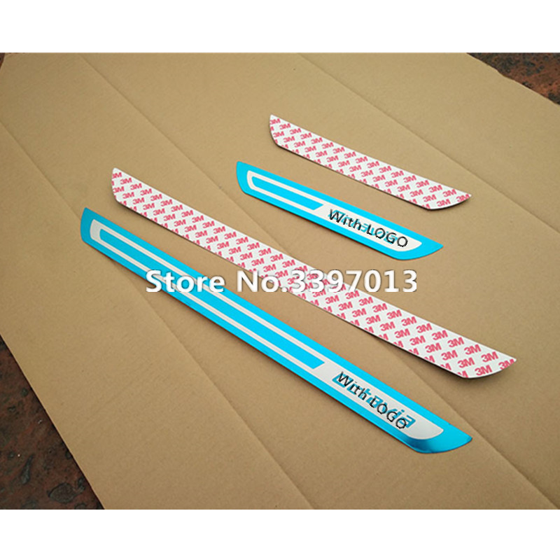 Новые нержавеющие накладки на пороги, автомобильные аксессуары для Skoda Octavia A5 A7 2008 2009 2010 2011 2012 2013