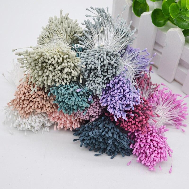 Мм 1,5 шт. 800 мм мини цветок тычинки Двойные головки Pistil DIY крафтовые украшения на свадьбу сувенирные карты торты цветы Accessori