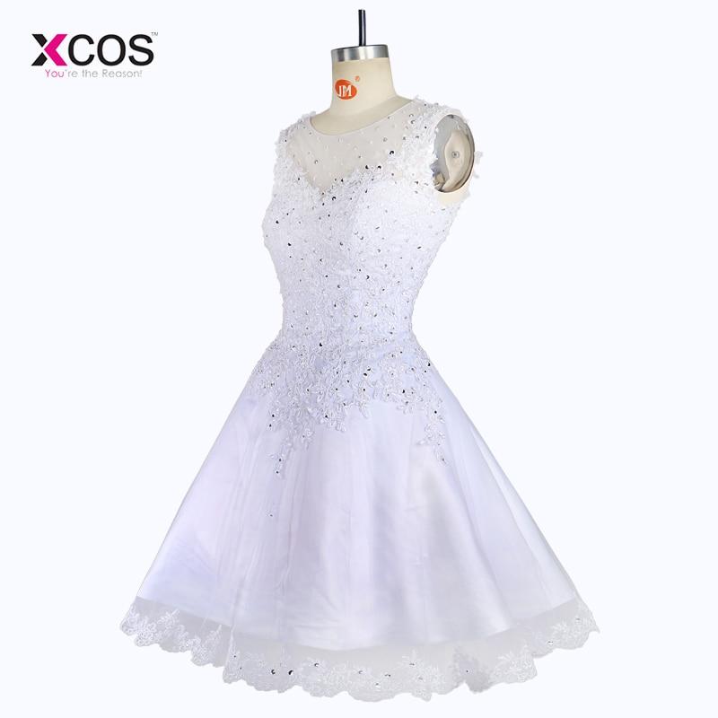 Elegant rochie de mireasa scurta fara maneca Rochie lunga Tank rochii - Rochii de mireasa - Fotografie 4
