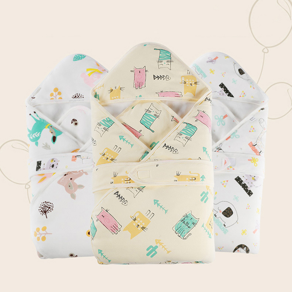 Baby Swaddle Newborn Blanket Quilt Infant Sleepsacks Quilt Cot Cover Envelope For Discharge Cartoon Printed Baby