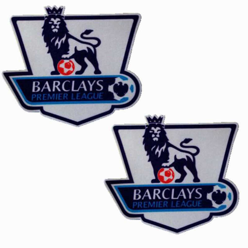 2pcs Barclays Premier League white gold 11/12/13/14/15 champion football  patches print badges, football Hot Stamping Patch Badge