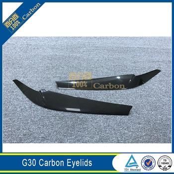 Car Front Light Eyebrows Carbon Fiber Eyelids For BMW G30