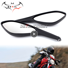 Rear Side Rearview Mirrors For DUCATI MONSTER 696 795 796 1100/S/EVO Motorcycle Accessories Brand New mirror Side Mirrors
