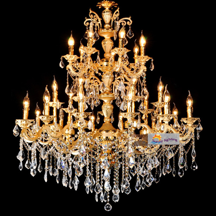 Duplex Penthouse Large Luxury Chandelier Crystal Lamps