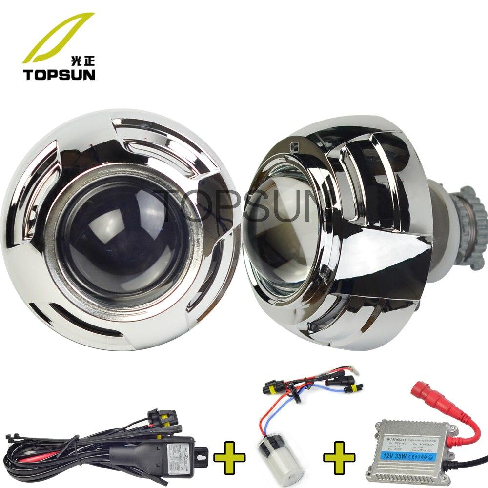 3 дюйм(ов) Koito Q5 H4 Биксеноновая объектив проектора для и, D2H ксенон, 35 Вт балласт, обрамление кожухи за кадром, H/L луч Управление кабель