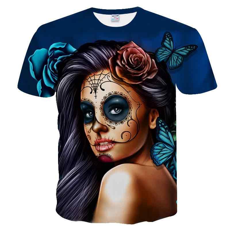 T-shirts VertrauenswüRdig Maske Einzigartige 2018 Neue 3d T Hemd Männer Schädel Tshirt Drucken Peking-oper Sommer Tops Casual T-shirt Kurzarm Streetwear Halloween