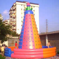 Colorful Climbing walls Durable Inflatable Climbing Wall outdoor sport game