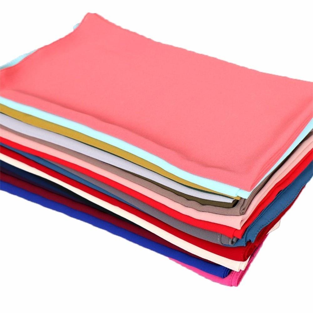 10pcs/lot Muslim Hijab Bubble Chiffon Hijab Shawls Wrap Solid Plain Nice Colors Scarves/Scarf 180*75cm