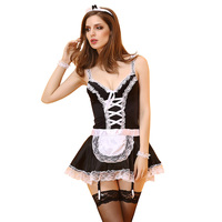 Sexy Maid Uniform Lingerie Sexy Hot Erotic Lingerie Women Lace Teddy Babydoll Dress Porn Maid Costumes Lingerie Sex Underwear