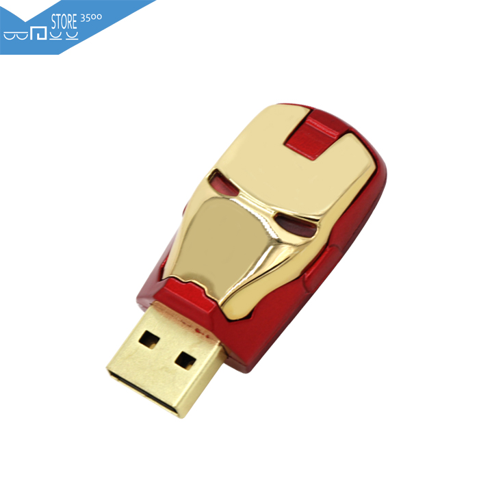 2015 New Fashion 3500 High Speed Iron Man 8GB 16GB 32GB Pen Drive Pendrive USB Flash Drive For PC Free Shipping