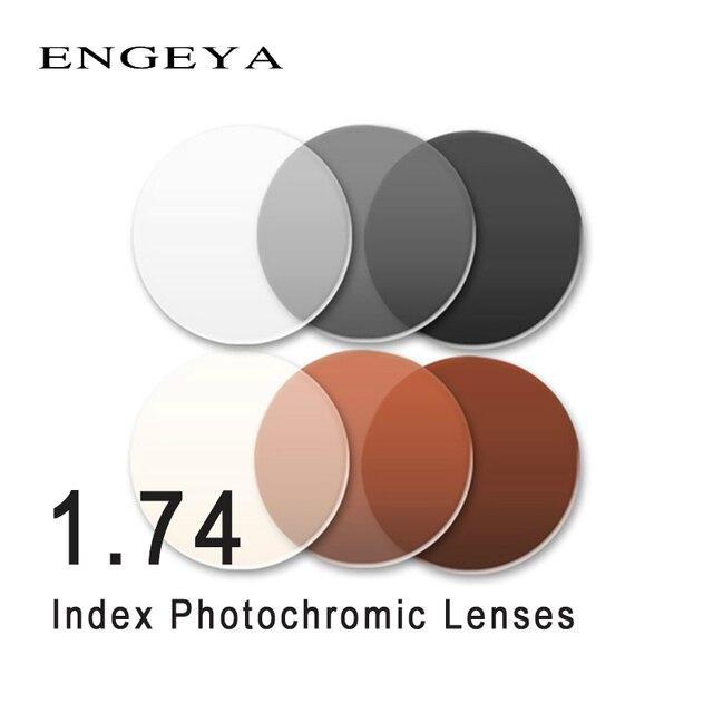 ENGEYA Indice 1.74 Lenti Fotocromatiche Transizione Grigio Marrone Lenti per Miopia Ipermetropia Ottica di Prescrizione di Occhiali Da Sole Lente