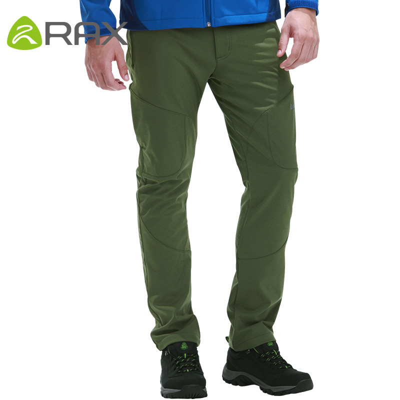 цена Rax Waterproof Windproof Outdoor Hiking Pants Men Softshell Pants Men Military Sport Trousers Man Hiking Trekking Pantalon Homme