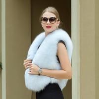 Новая горячая распродажа 100% true blue fox Меховой жилет Модные дышащие женские осенне зимнее пальто горячая Распродажа натуральный мех песца теп