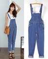 2016 spring summer European fashion women jumpsuit denim female blue casual jeans jumpsuits for lady wear rompers overalls
