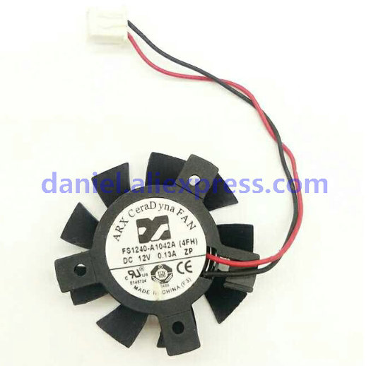 ARX FS1240-A1042A Hole Position 2620 Mm Diameter 37mm 12V 0.13A Display Card Cooling Fan