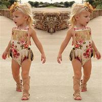 Newborn Kids Baby Girls Cotton  Romper Jumpsuit Clothes Summer Sunsuit