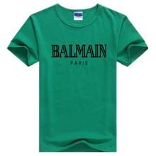 balmain shirt 2019 del NUOVO Streetwear Manica Corta Magliette BALMAIN T Shirt Maniche  Corte In Cotone Magliette e