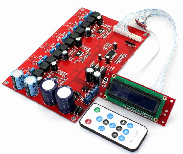 YJ00295-TPA3116 6-channel remote control power amplifier board Using original TPA3116+M62446 free shipping 6 way m62446 5 1 channel volume remote control preamplifier kit for dc motor use