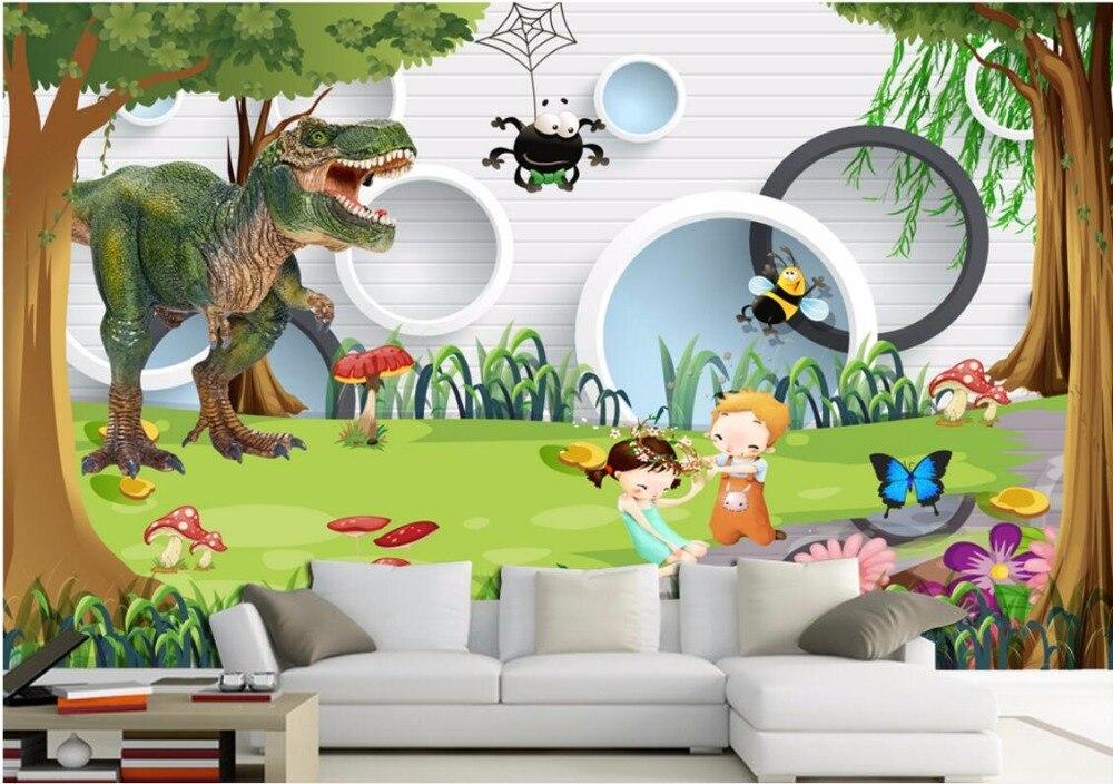 achetez en gros dinosaure papier peint murale en ligne. Black Bedroom Furniture Sets. Home Design Ideas