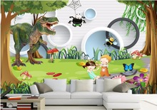 Custom photo 3d wallpaper mural Dinosaur Children's Playground decoration painting 3d wall murals wallpaper for walls 3 d(China)