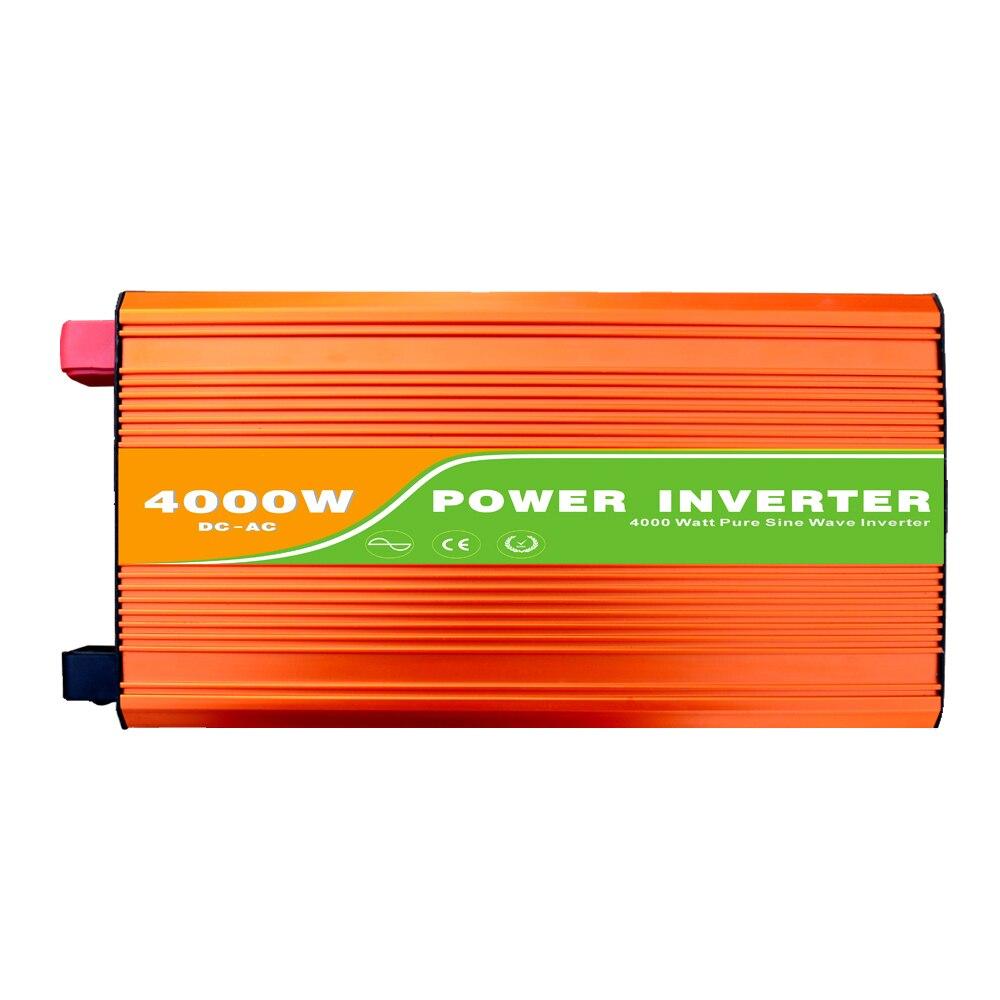 Digital 48VDC (40-60V) 4000W Off Grid Inverter to 100-240VAC Ouput, Peak Power 8000W Pure Sine Wave Solar Wind Inverter with USB