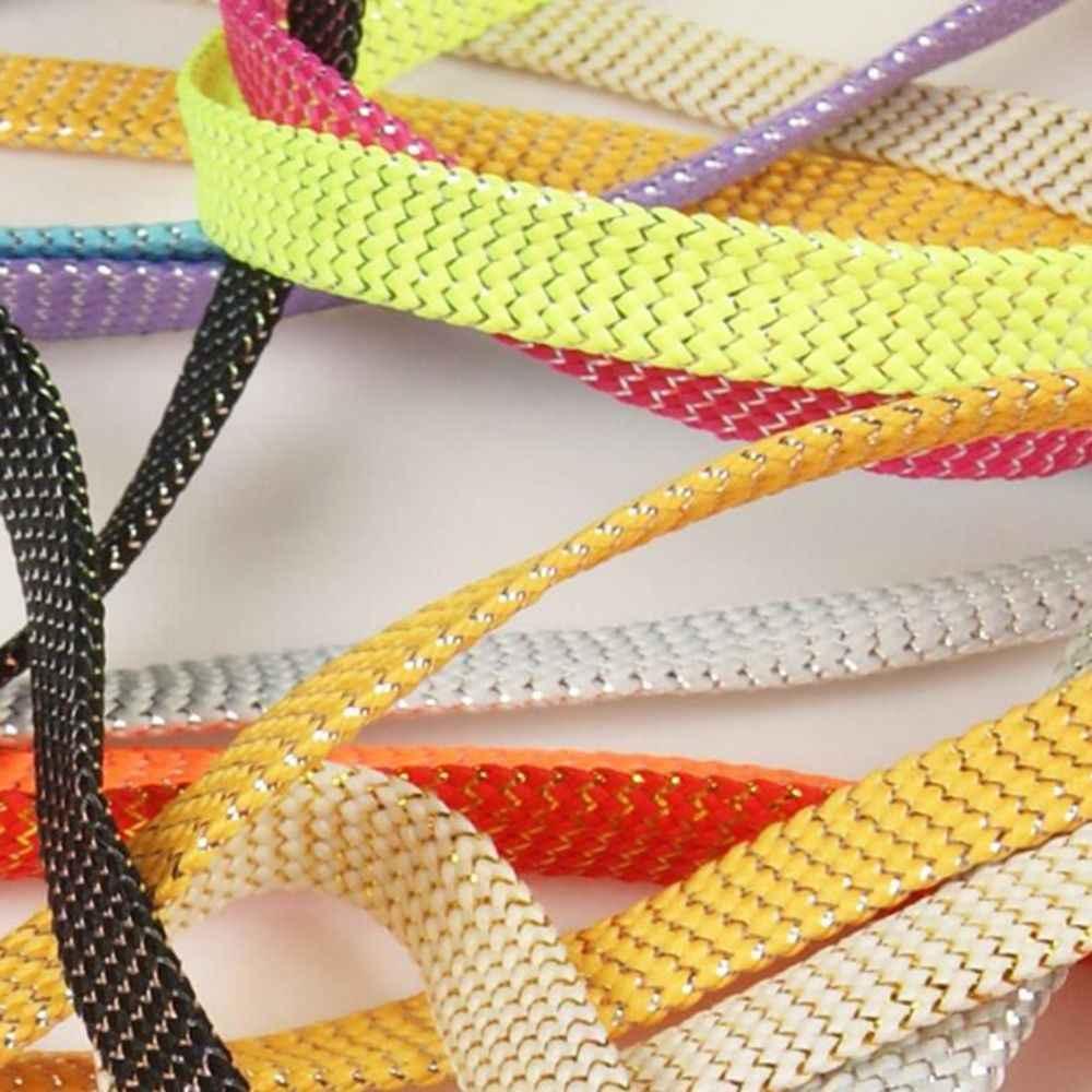 110 ซม.แบน Silver Silver รองเท้า Laces Super ยาวทุกวันปาร์ตี้ Shoelaces ตั้งแคมป์ปลูกผ้าใบ Strings Laces แบน