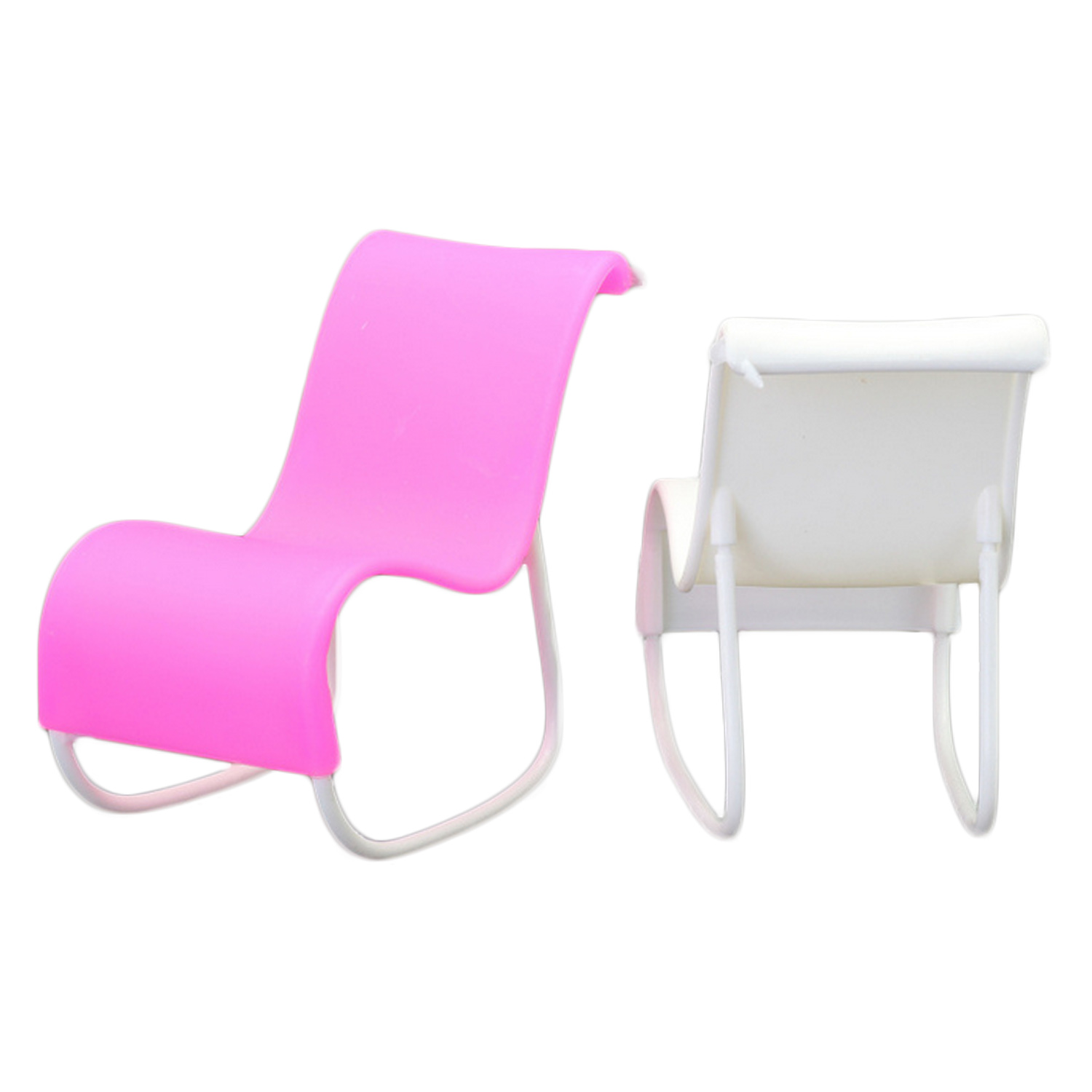 2 PCS Doll Beach Lounge Rocking Chair Living Room Furniture Accessories for Barbie Toys Princess Dreamhouse