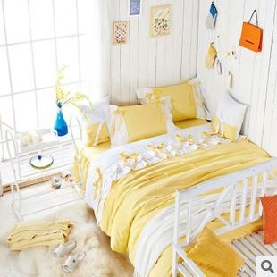 Sweet Girl Light Yellow White Fairy Duvet Cover Bedding