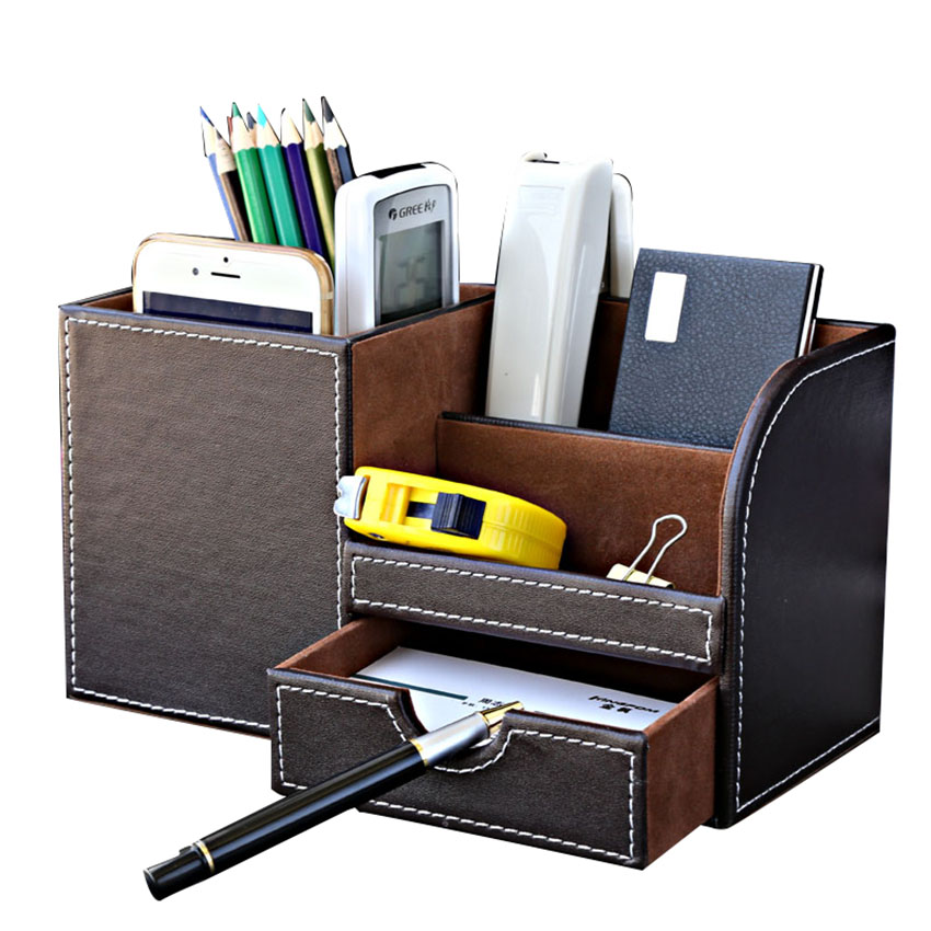 Black leather desk organizer reviews online shopping - Black leather desk organizer ...