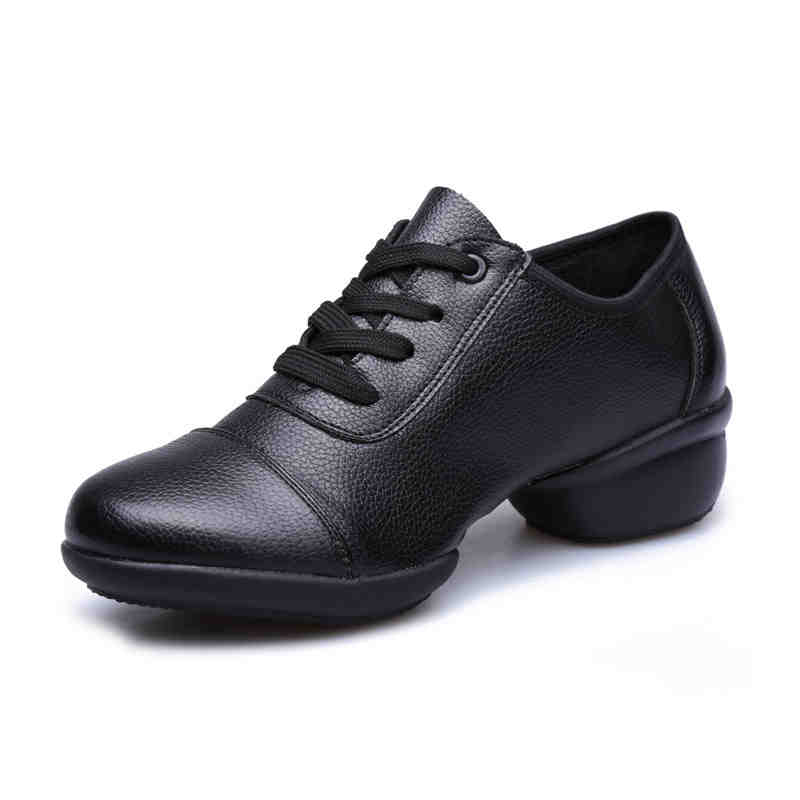 Sneakers Samba Dance Shoes Leather Cloth New Ladies Modern Dance Shoes Breathable Soft Bottom Women Shoes Low Square Cowboy