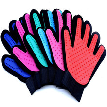1 Pcs Silicone Grooming Glove for Pet Bath Massage Cleaning Dog Cat Combs Cleaner Brush Supply Accessories