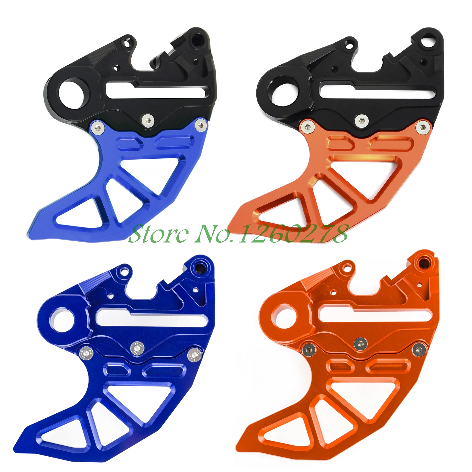 NICECNC Caliper Support Rear Brake Disc Guard For KTM 125 200 250 300 390 450 500 525 530 SX/SX-F EXC/EXC-F/XC-W/XCF-W billet cnc rear brake disc guard w caliper bracket for ktm 125 450 sx sx f smr xc xc f 2013 2014 2015 2016