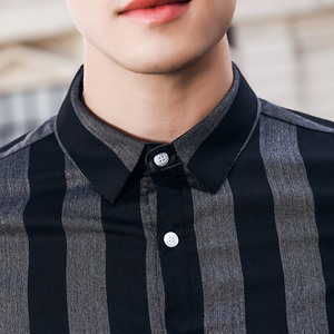 Image 4 - FANZHUAN free shipping MenS male man 2018 New Business Temperament Slim striped 97% cotton Long Sleeved non iron Shirt 822025